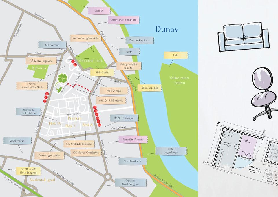 Lokacija Zelena Avenija Stambeno Poslovni Kompleks Zemun Novi